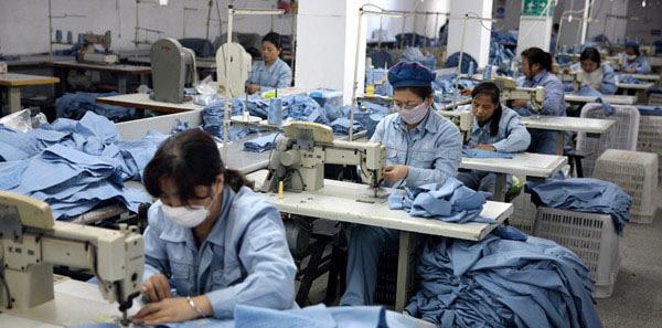 服装行业劳动力价格上涨